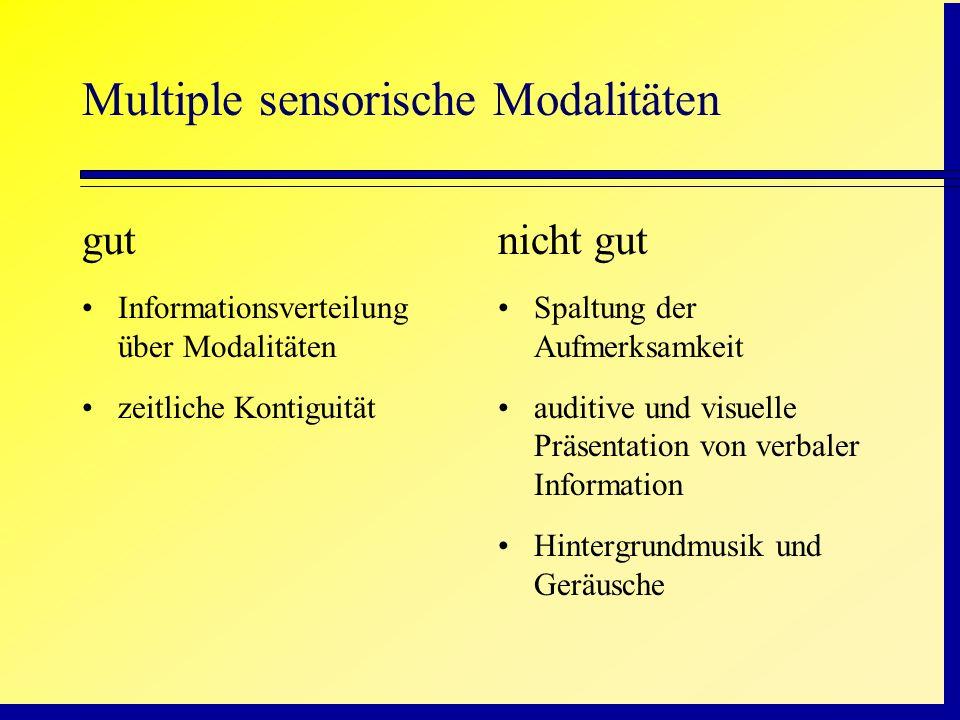 Multiple sensorische Modalitäten