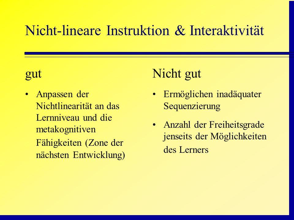 Nicht-lineare Instruktion & Interaktivität