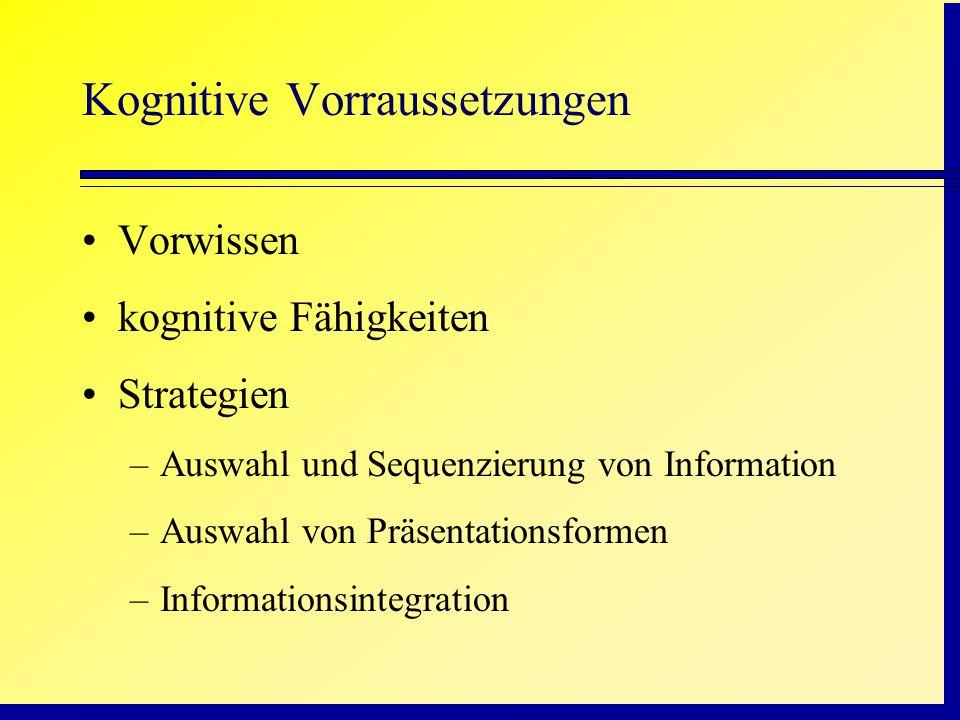 Kognitive Vorraussetzungen