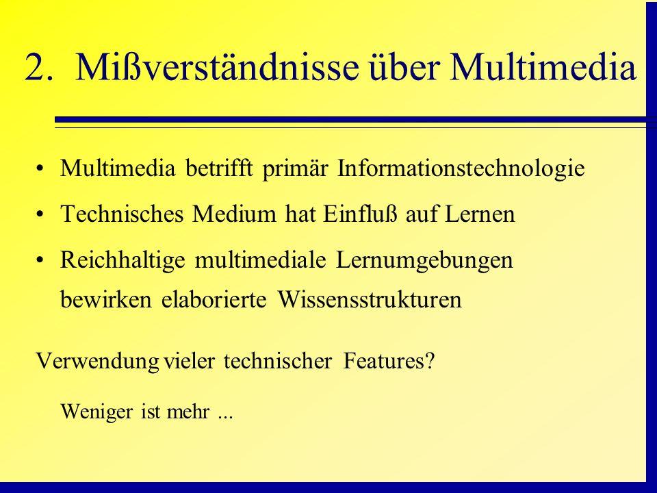 2. Mißverständnisse über Multimedia