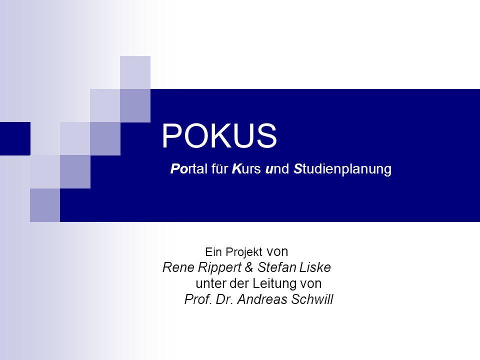 POKUS Portal für Kurs und Studienplanung