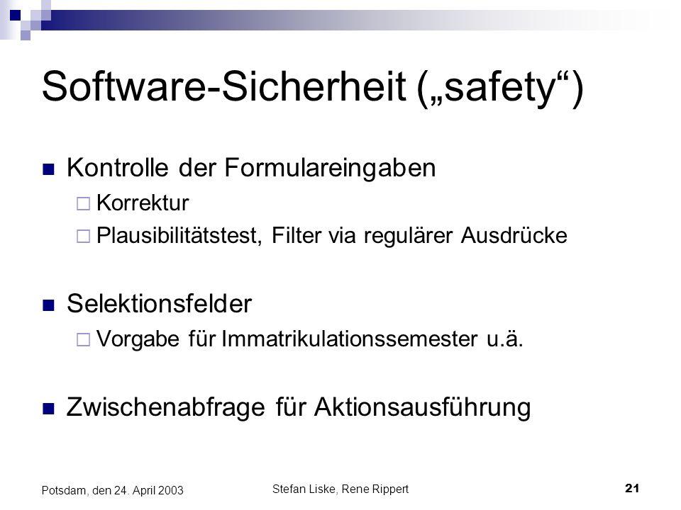 """Software-Sicherheit (""""safety )"""