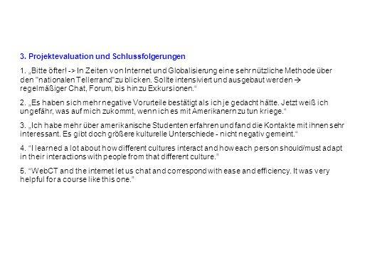 3. Projektevaluation und Schlussfolgerungen