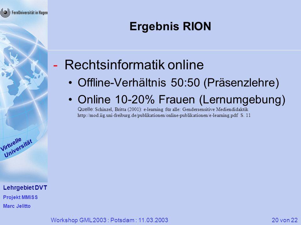 Rechtsinformatik online