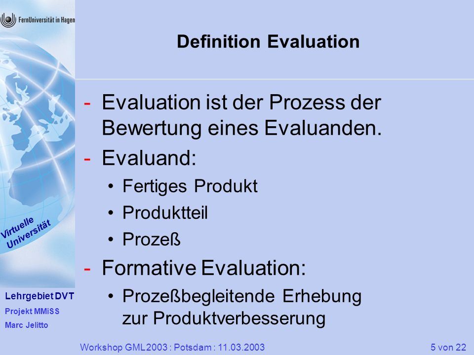 Definition Evaluation