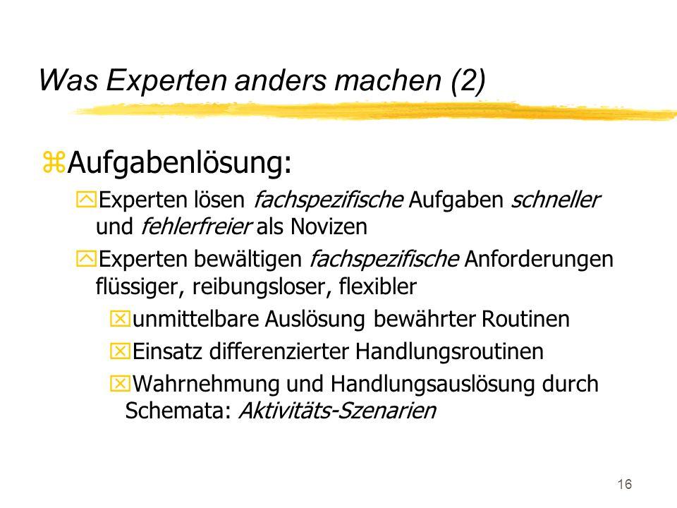 Was Experten anders machen (2)