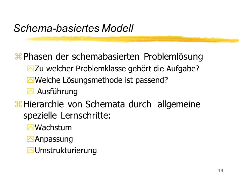 Schema-basiertes Modell