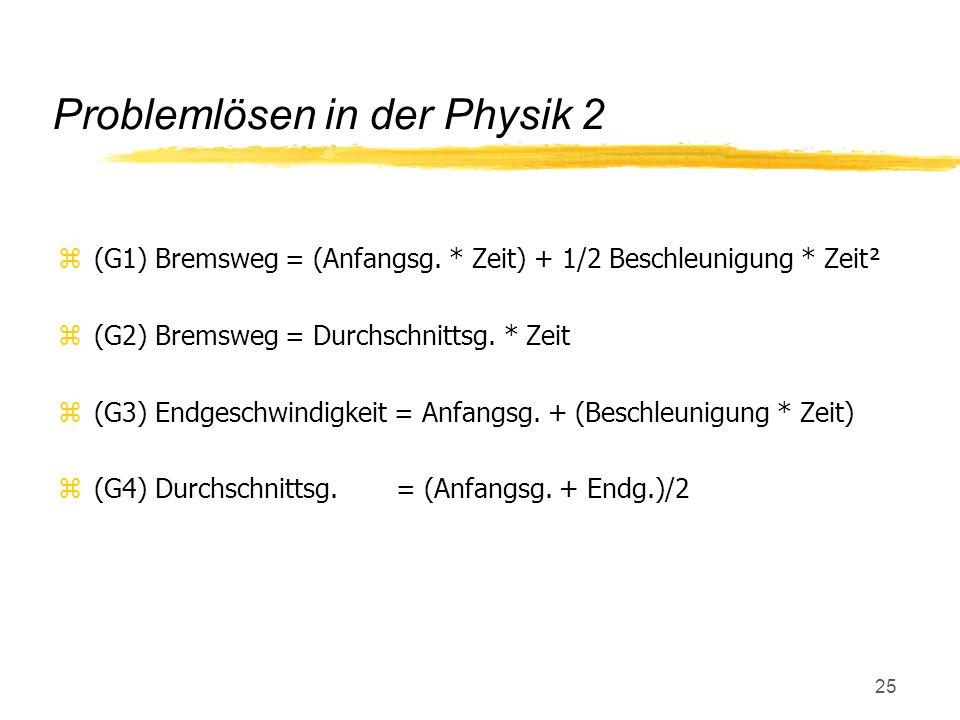 Problemlösen in der Physik 2