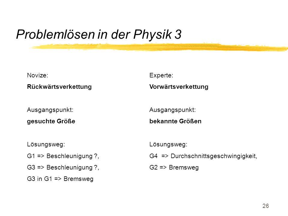 Problemlösen in der Physik 3