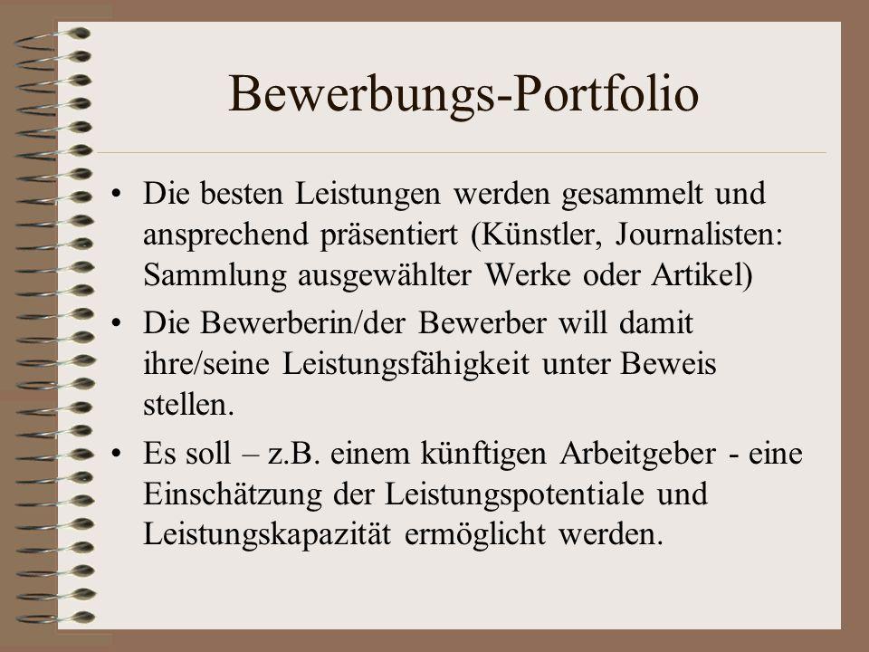 Bewerbungs-Portfolio