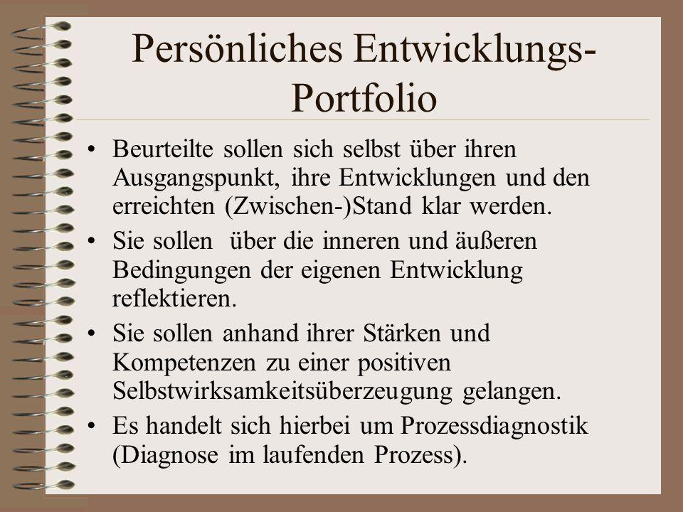 Persönliches Entwicklungs-Portfolio