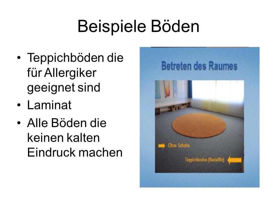 Beispiele Böden Teppichböden die für Allergiker geeignet sind Laminat