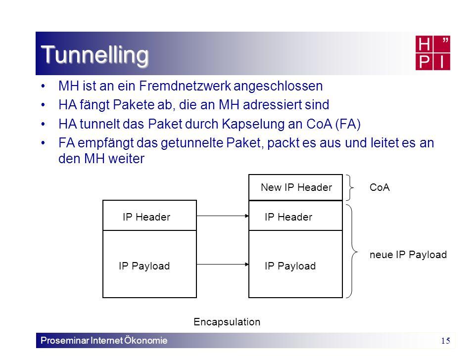 Tunnelling MH ist an ein Fremdnetzwerk angeschlossen