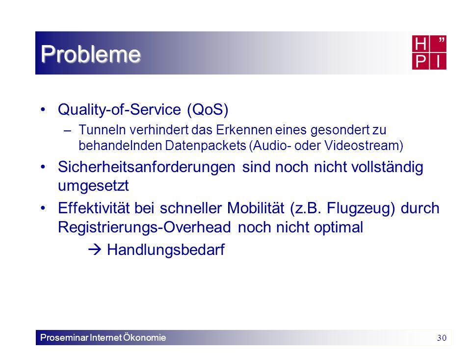 Probleme Quality-of-Service (QoS)