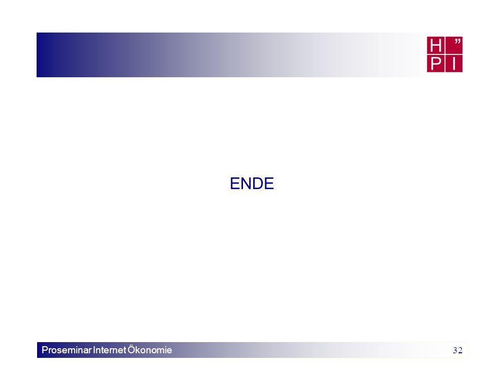 ENDE Proseminar Internet Ökonomie