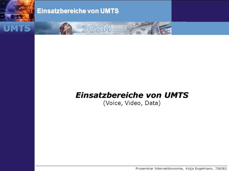 Einsatzbereiche von UMTS