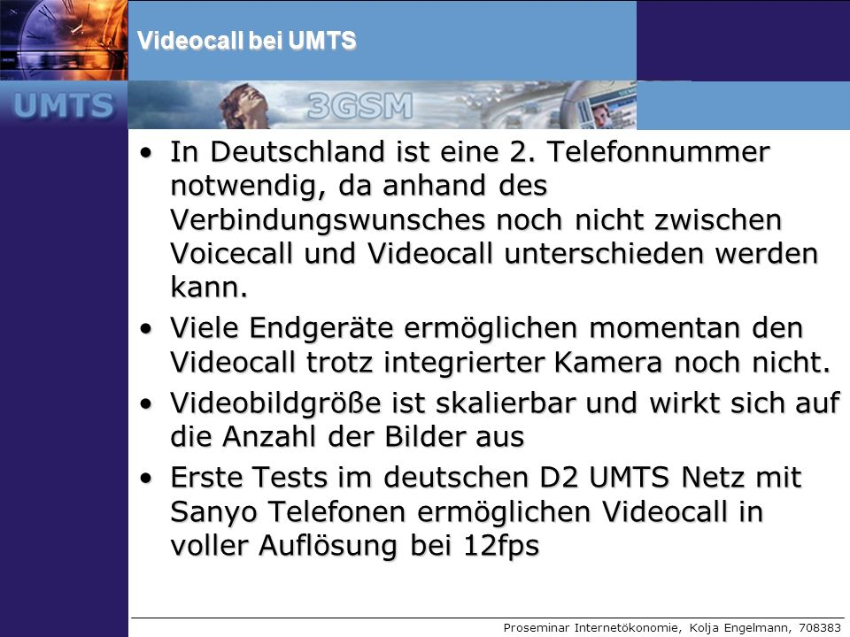 Videocall bei UMTS