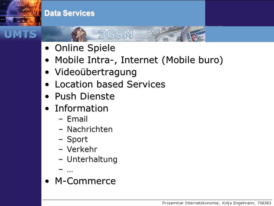 Mobile Intra-, Internet (Mobile buro) Videoübertragung