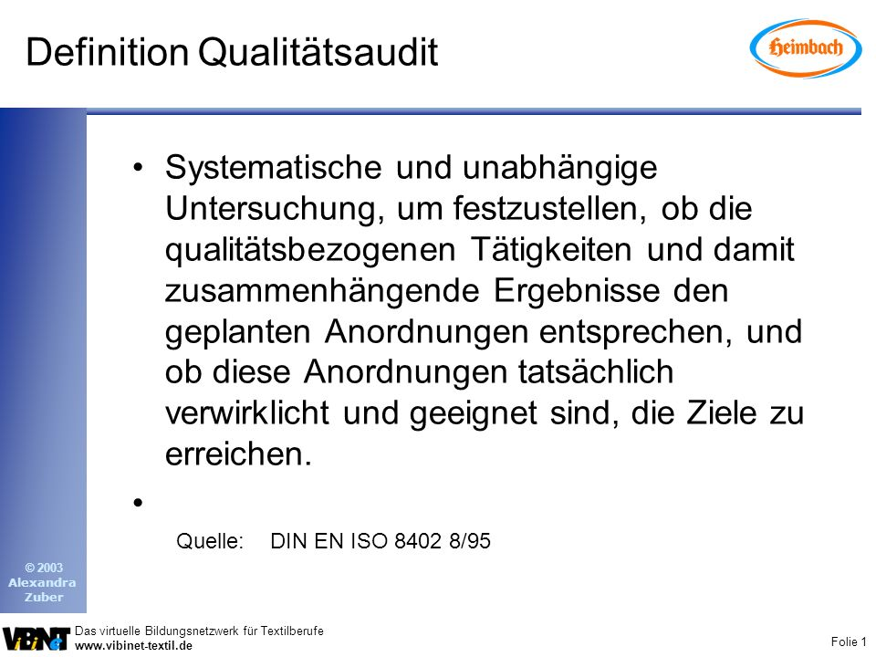Definition Qualitätsaudit