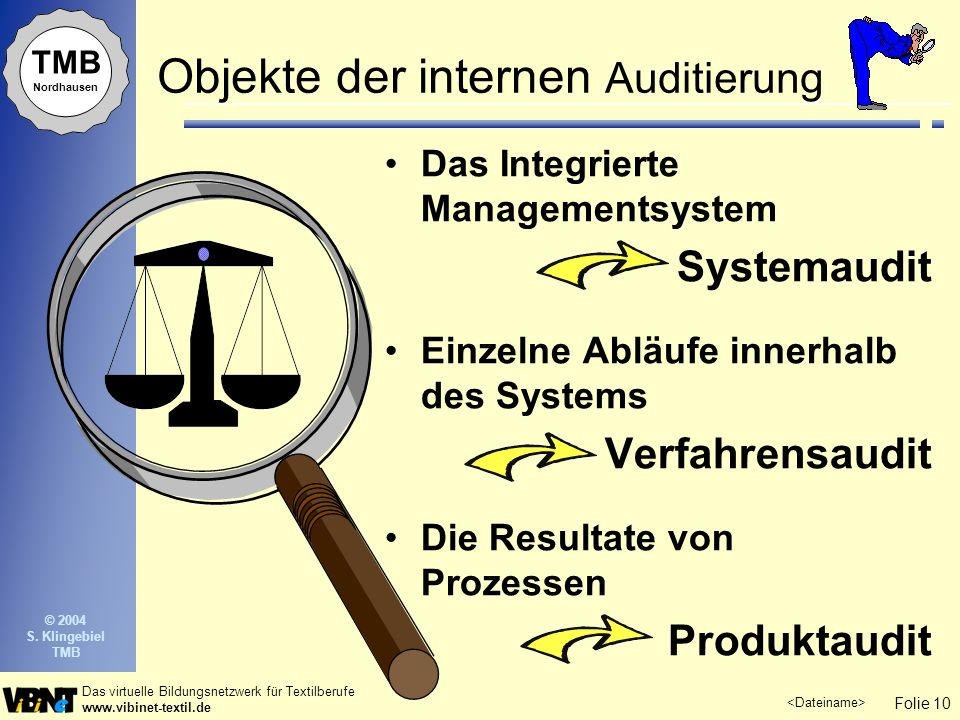 Objekte der internen Auditierung