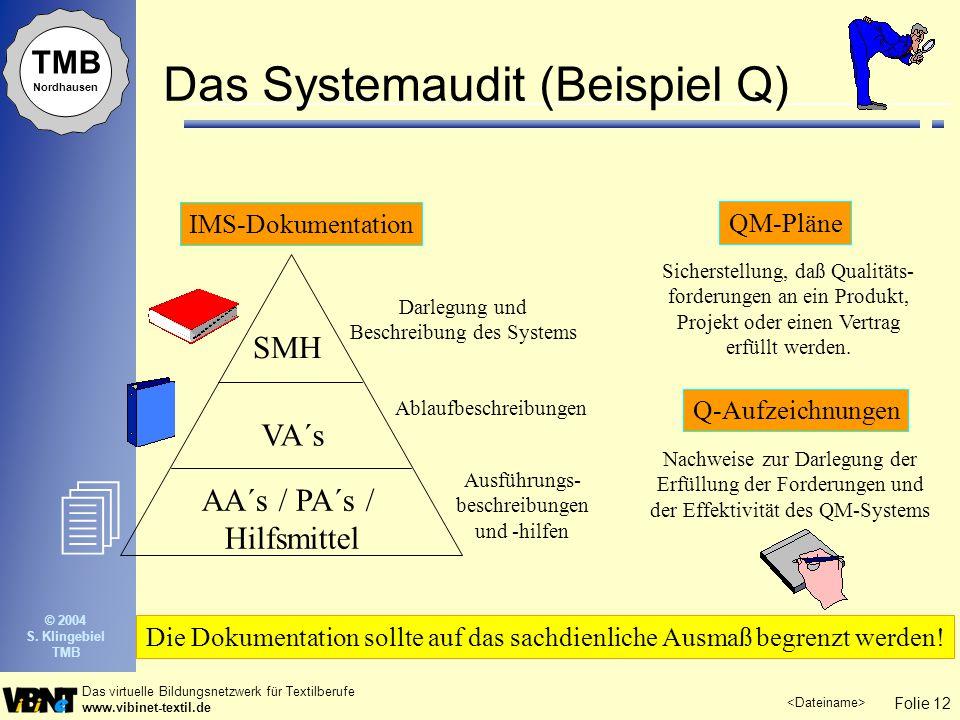 Das Systemaudit (Beispiel Q)