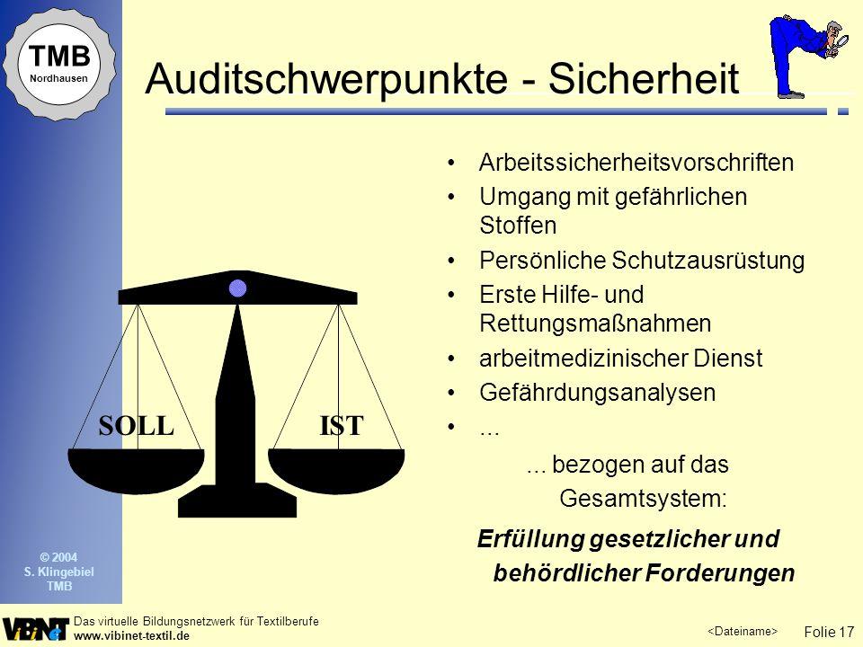 Auditschwerpunkte - Sicherheit