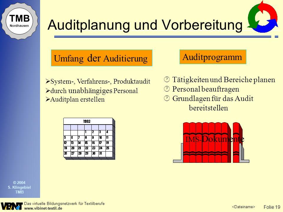 Auditplanung und Vorbereitung