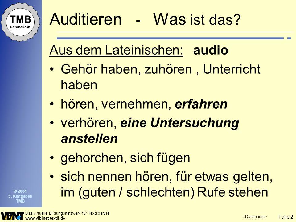 Auditieren - Was ist das