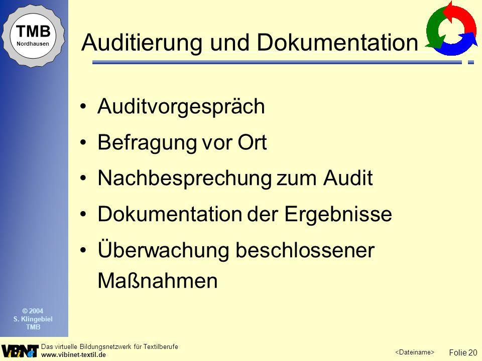 Auditierung und Dokumentation