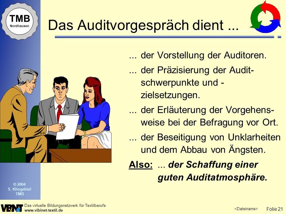 Das Auditvorgespräch dient ...