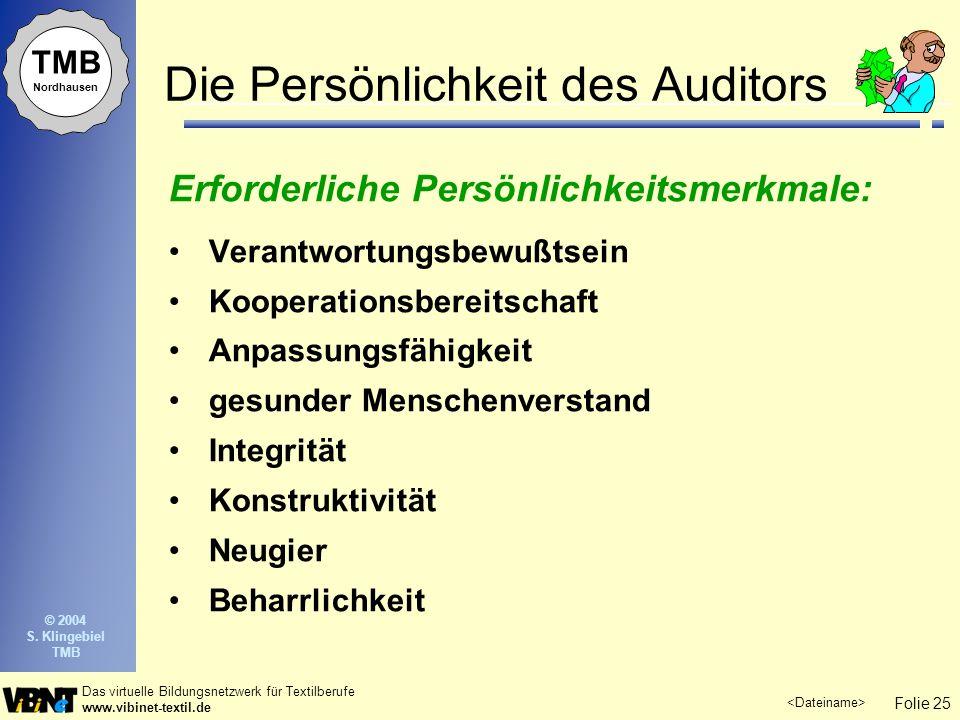 Die Persönlichkeit des Auditors