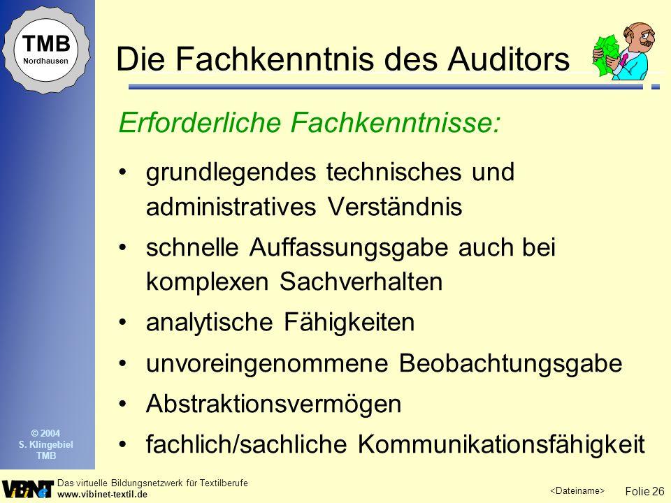 Die Fachkenntnis des Auditors