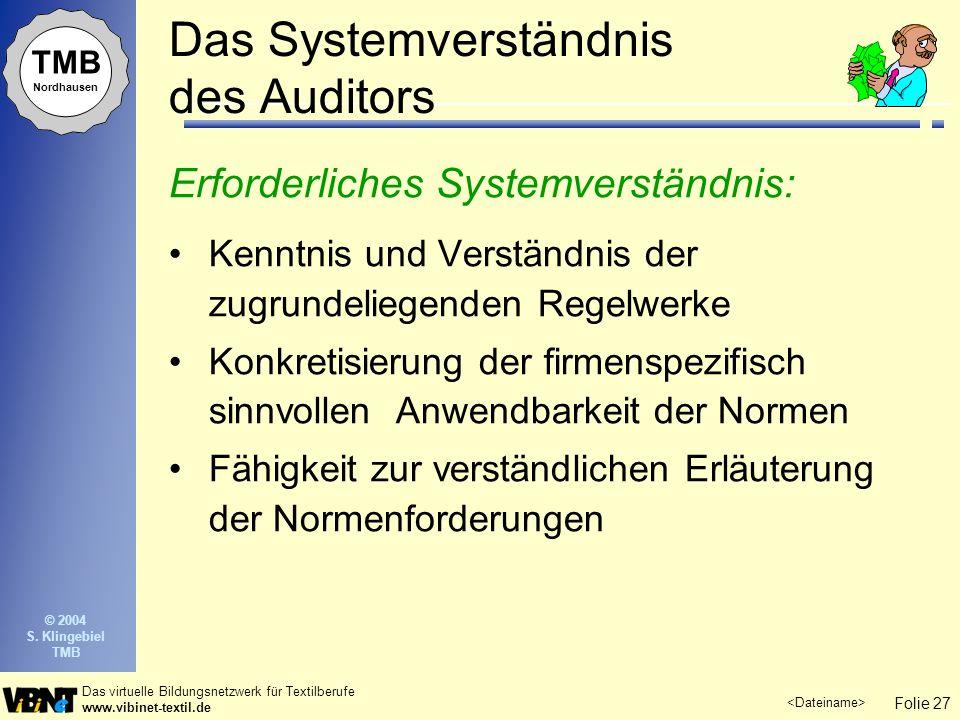 Das Systemverständnis des Auditors