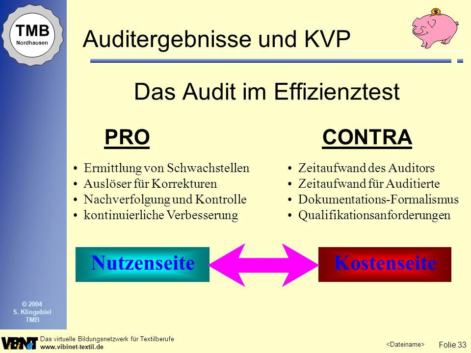 Auditergebnisse und KVP