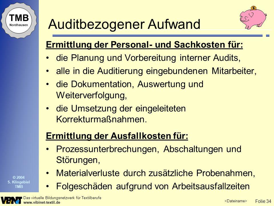 Auditbezogener Aufwand