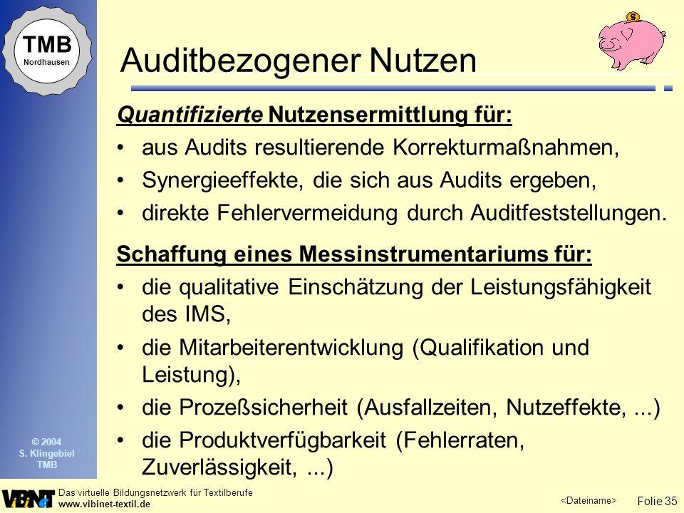 Auditbezogener Nutzen