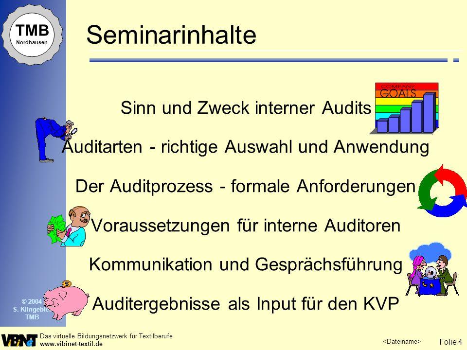 Seminarinhalte Sinn und Zweck interner Audits