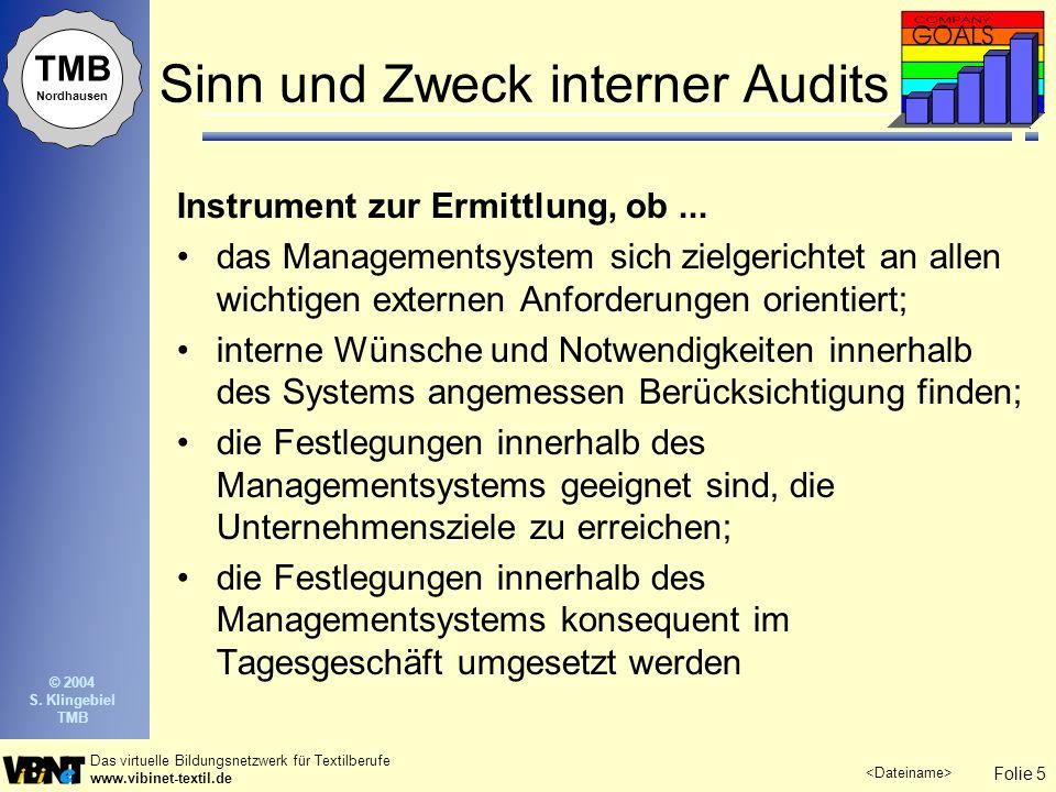 Sinn und Zweck interner Audits