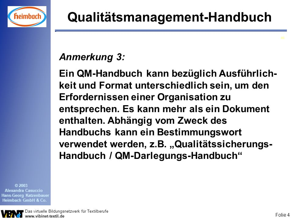 Qualitätsmanagement-Handbuch