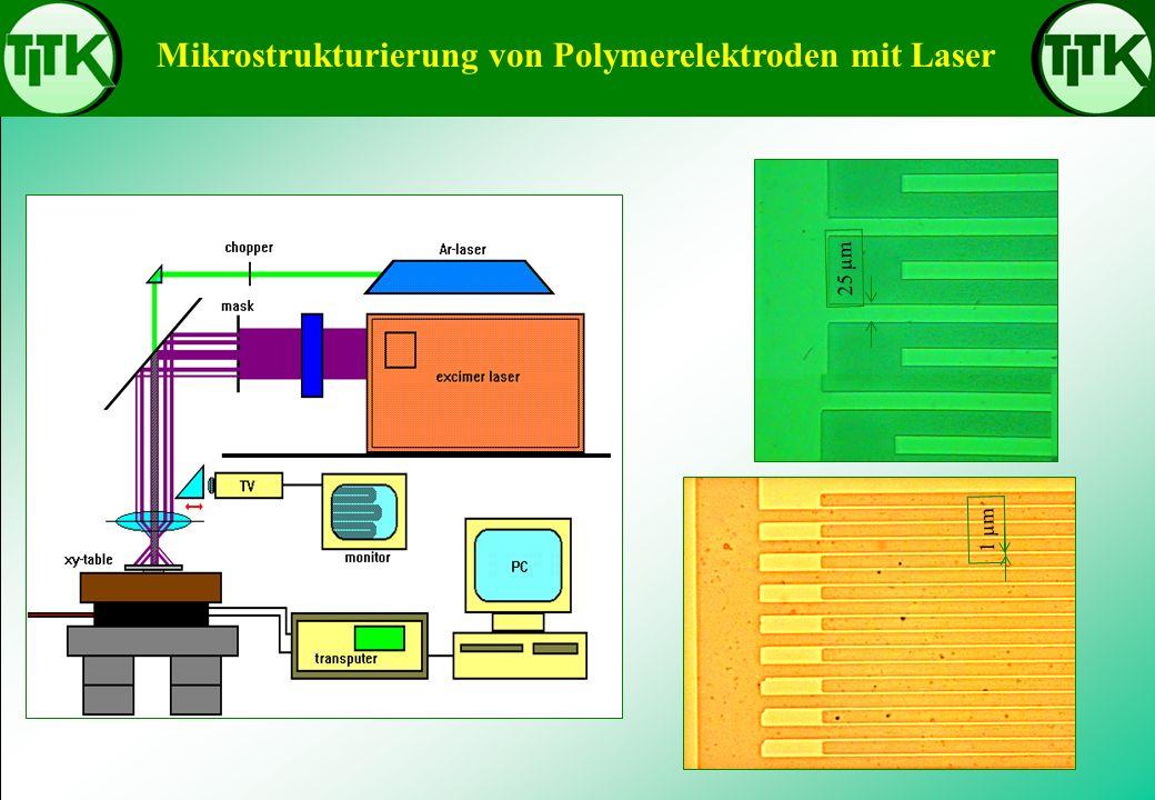Mikrostrukturierung von Polymerelektroden mit Laser