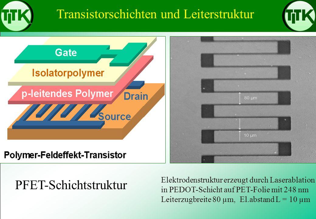 Transistorschichten und Leiterstruktur