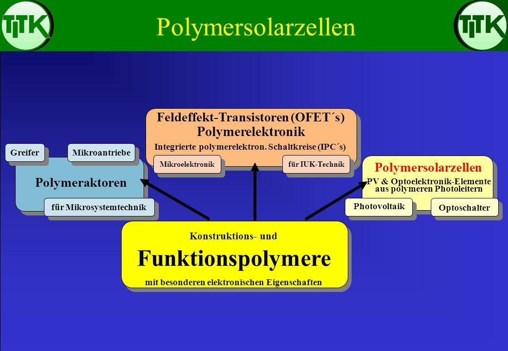 Feldeffekt-Transistoren (OFET´s) aus polymeren Leitern, Halbleitern