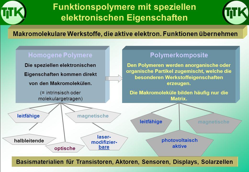Funktionspolymere mit speziellen elektronischen Eigenschaften