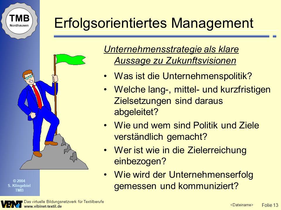 Erfolgsorientiertes Management