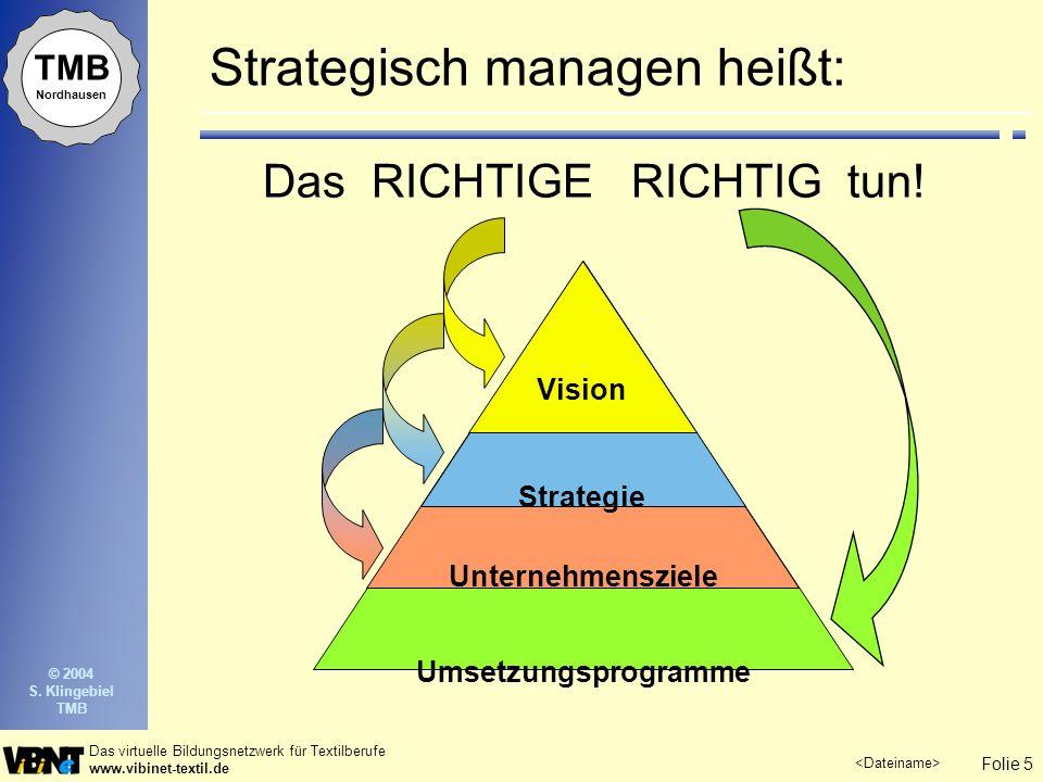Strategisch managen heißt: