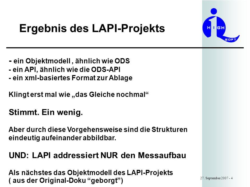 Ergebnis des LAPI-Projekts