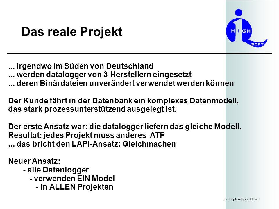 Das reale Projekt ... irgendwo im Süden von Deutschland