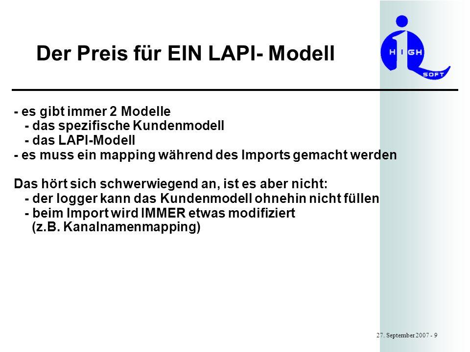 Der Preis für EIN LAPI- Modell