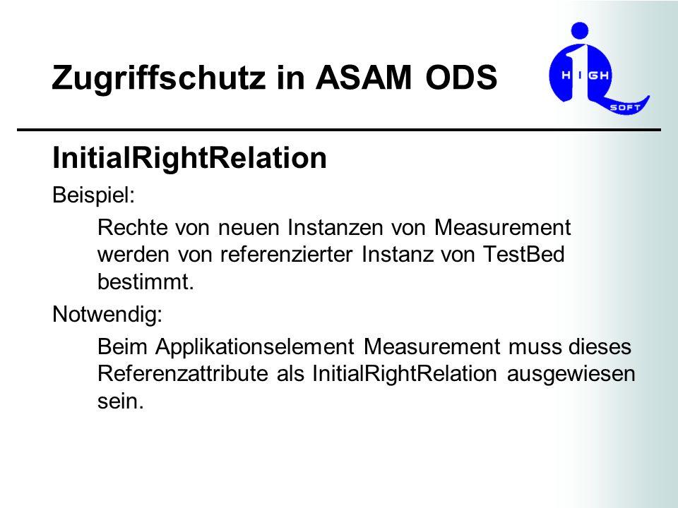 Zugriffschutz in ASAM ODS