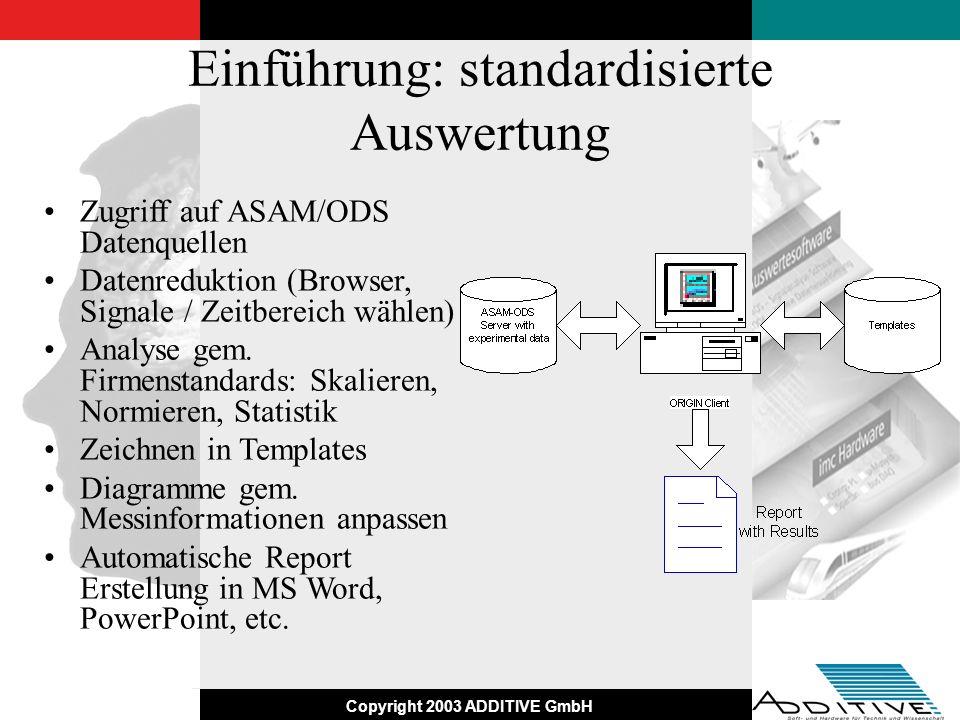 Einführung: standardisierte Auswertung